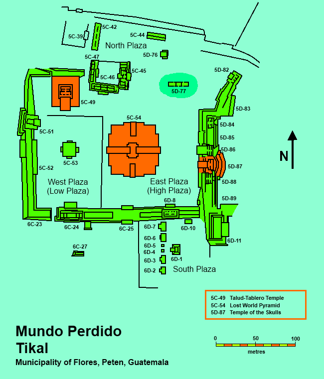 map_of_the_mundo_perdido_complex_tikal